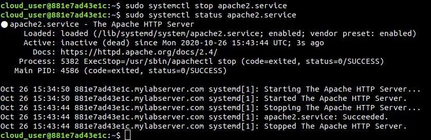 Stop-apache-service