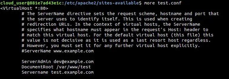virtual host configuration apache