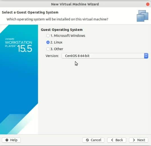 select-centos-8-64-bit-in-guest-OS