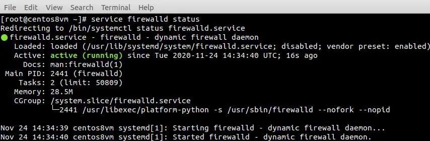 check-firewall-status-centos