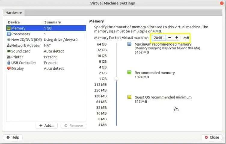 edit-centos-8-virtual-machine-memory