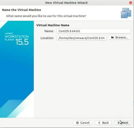 location-of-centos-Virtual-machine