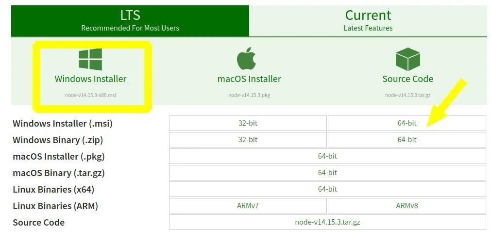 Download-node-js