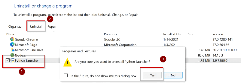 remove-python-launcher-windows-10