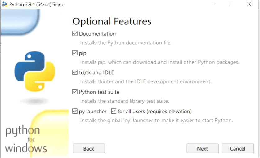 select-optional-features-python