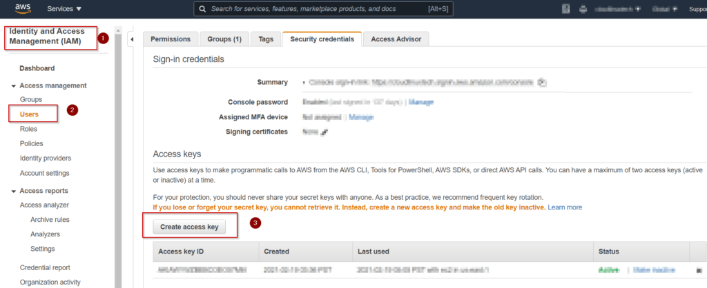 Get-your-access-key-from-AWS