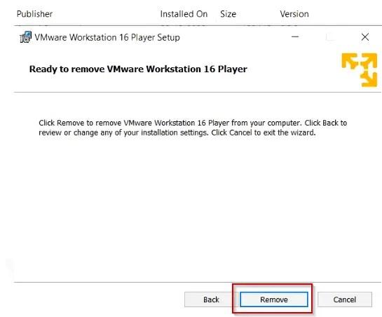 Remove-Vmware-workstation-16-player