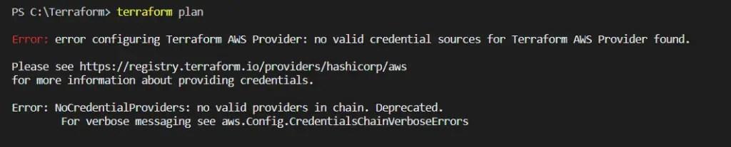 error-configuring-Terraform-AWS-Provider