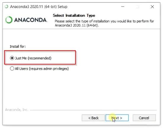 Select-Anaconda-installation-type