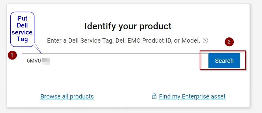 Provide-your-Dell-service-tag