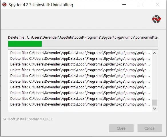 Remove-Spyder-4.2.3-from-Windows10