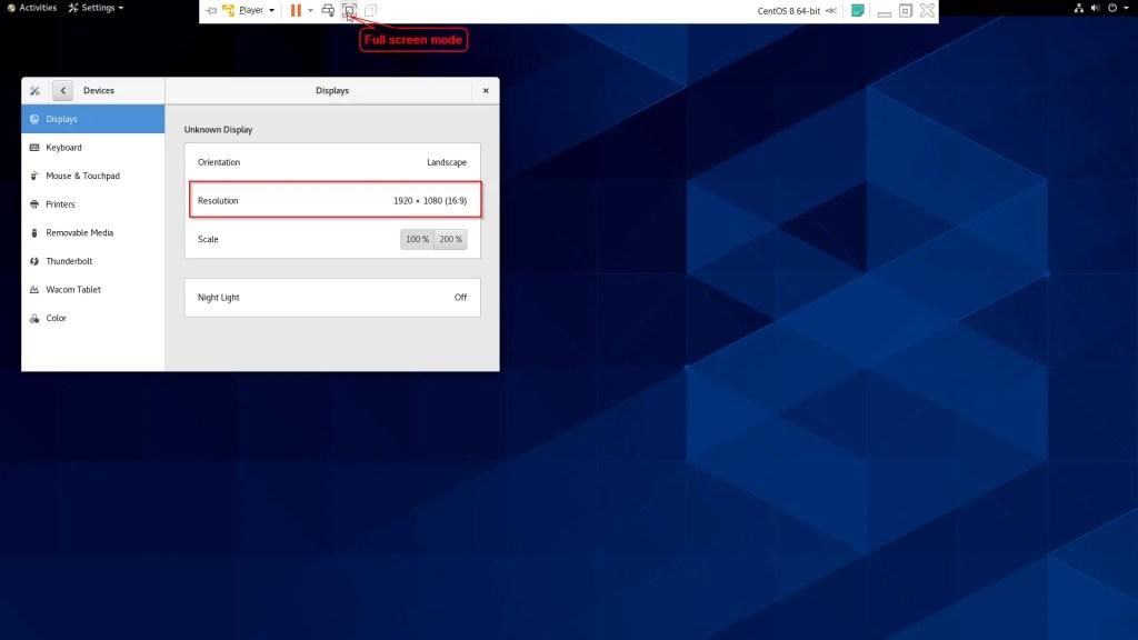 Centos Vmware screen resolution problem fixed