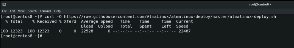Download-Almalinux-deploy-script-from-github