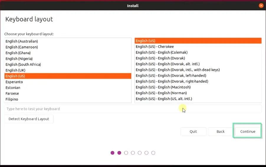 Select-Keyboard-layout