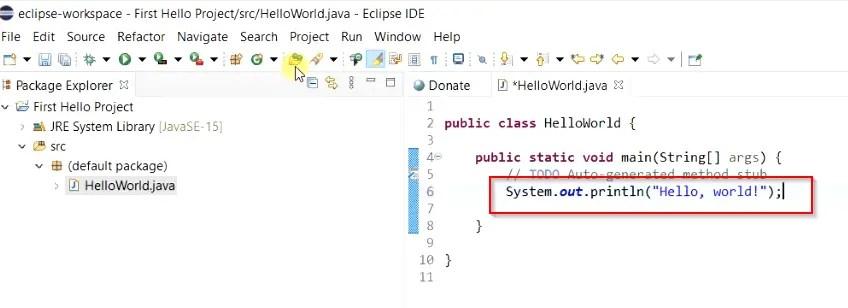 first-hello-world-code-in-java