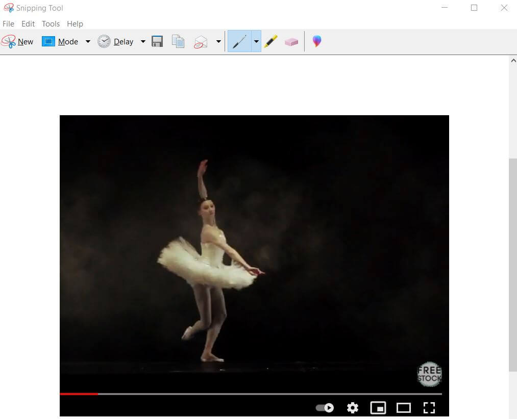 YouTube-frame-by-frame-screenshot-using -snip