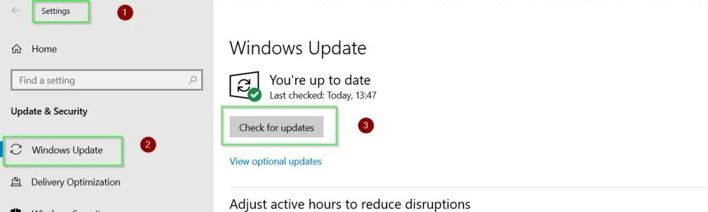 run Windows update to meet WSL installation pre-requisite