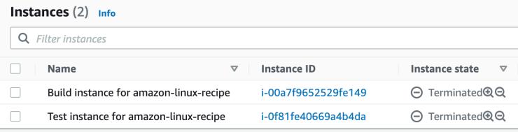 build and test instances