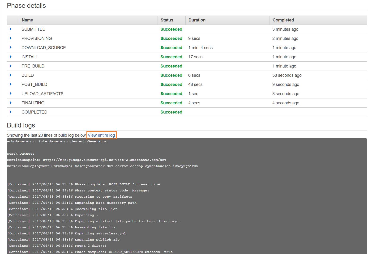 Build console