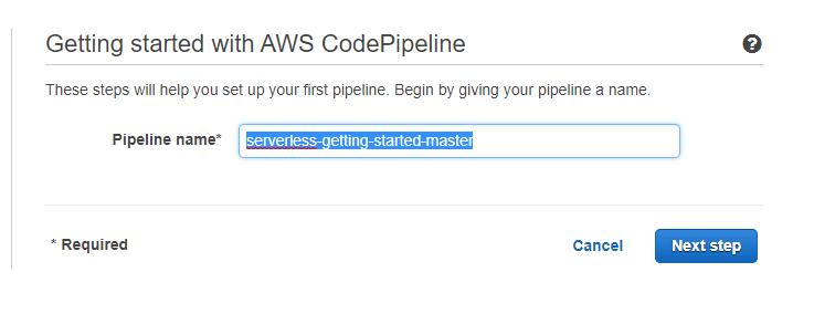 pipeline name