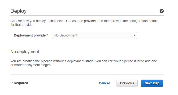 no deployment