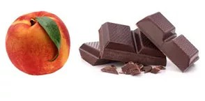 peach and chocolate flavors