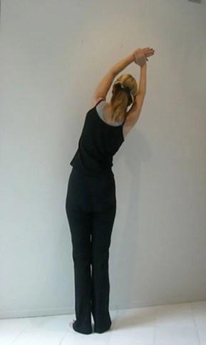 Easy yoga side stretch