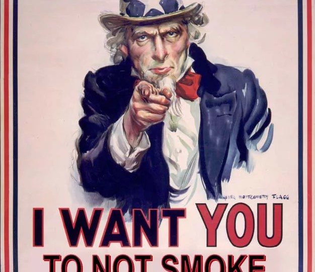 No Smoking Here Uncle Sam Poster