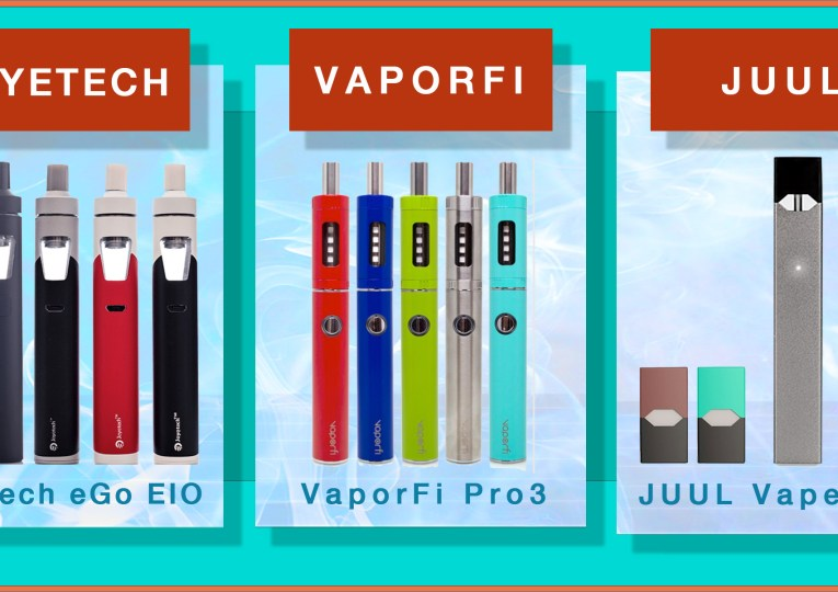 top three vape pens from joyetech, vaporfi, juul
