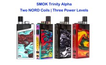 SMOK TRINITY ALPHA Two Nord Coils _ Three Power Levels Feaured Image