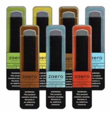 Zaero disposable vape pen sampler pack