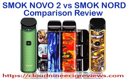 smoke novo 2 vs smok nord comparison Review Title Image