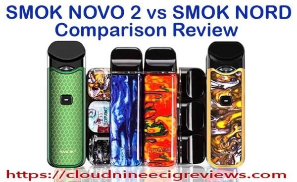 smoke novo 2 vs smok nord comparison Review Title Image