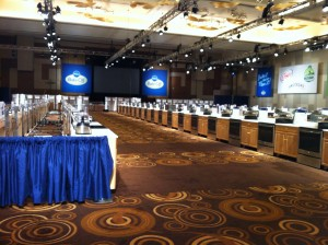 Pillsbury Bake-off competition room stations