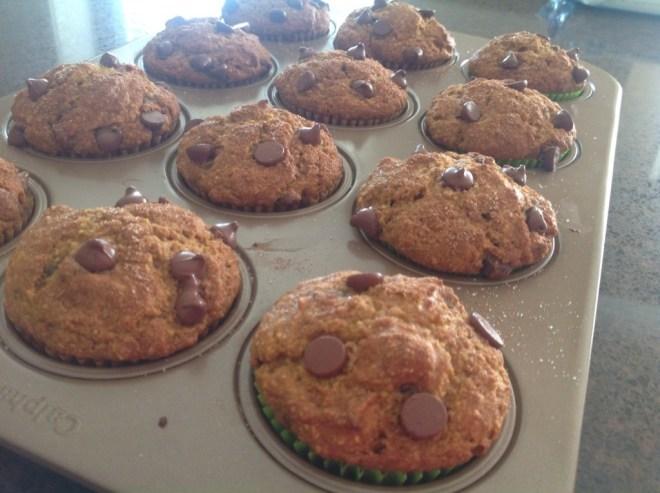 Pumpkin Chocolate Chip Muffins finished
