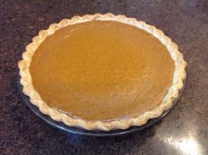 Thanksgiving Dinner Pumpkin Pie