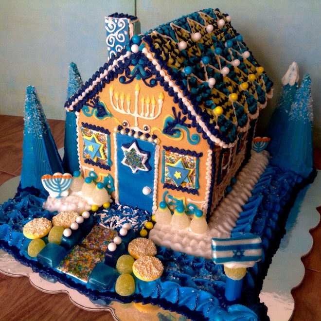 Lauren Katz Manischewitz gingerbread house