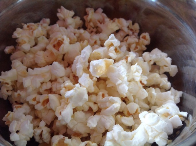 4 ingredient Quickie- Smoked Maple Butter Microwave Popcorn