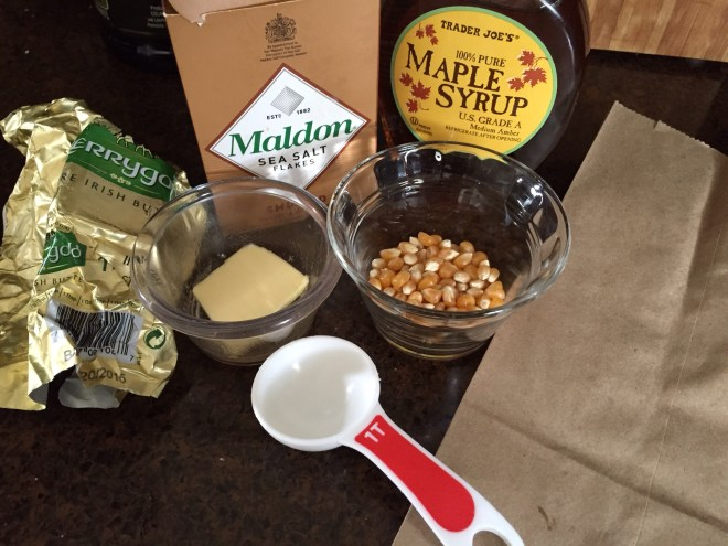 Homemade microwave popcorn ingredients