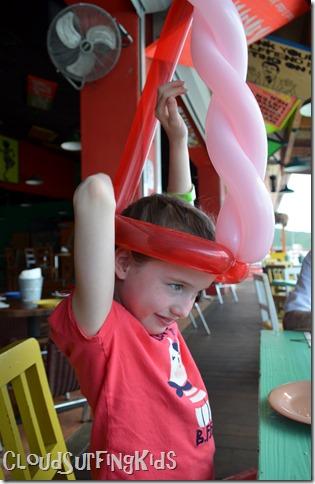 Charlotte Amalie Senor Frogs Tall Balloon Hat