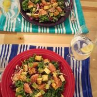 Hemp Summer Salad with Kale, Grapefruit, and Avocado