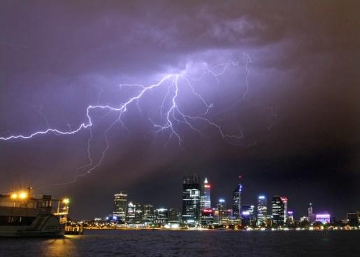 Lightning over perth CBD December 5 2012 02