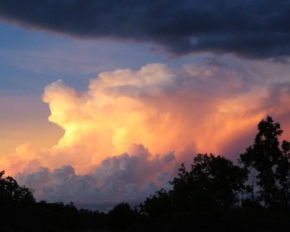 Sunset thunderstorm CG