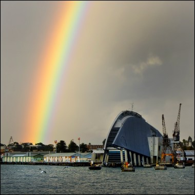 Rainbow over Maritime museum