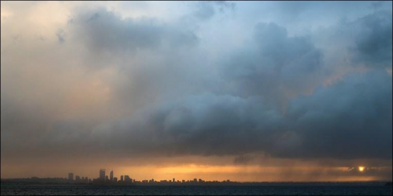 Perth stormy sunrise