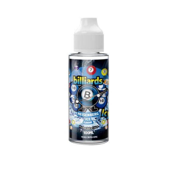 Billiards Icy Shortfill E-liquid 100ml, Cloud Vaping UK