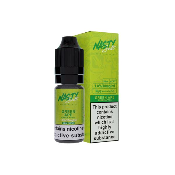 Nasty Salt 10mg 10ML Flavoured Nic Salt E-liquid, Cloud Vaping UK