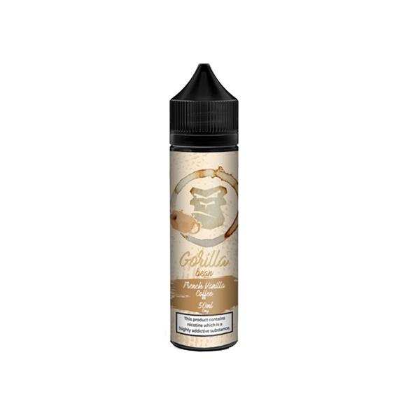 Gorilla Bean 0mg 50ml Shortfill E-liquid, Cloud Vaping UK