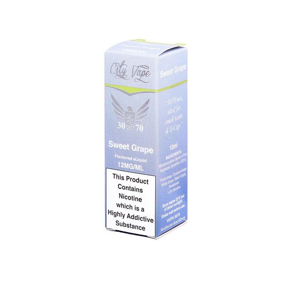 City Vape 6mg 10ml Flavoured E-liquid (30VG/70PG), Cloud Vaping UK