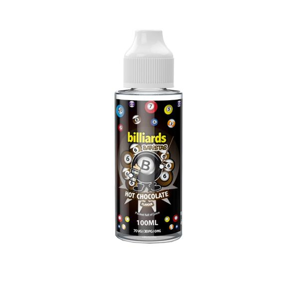 Billiards Baristas Range 0mg 100ml Shortfill E-liquid, Cloud Vaping UK
